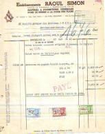 Bruxelles - 1943 - Etablissements Raoul Simon - Matériel & Fournitures Générales Pour Le - Printing & Stationeries