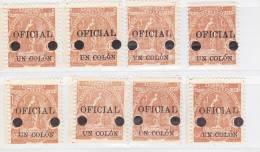 SALVATOR - TIMBRES DE SERVICE N° 186 NEUF XX   LOT DE 8 EXEMPLAIRES   TB  ANNEE 1911 - El Salvador