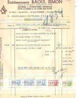 Bruxelles - 1943 - Etablissements Raoul Simon - Matériel & Fournitures Générales Pour Le - Imprimerie & Papeterie