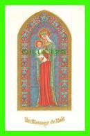 IMAGES RELIGIEUSES - SAINTE VIERGE MARIE AVEC JÉSUS BÉBÉ - DIMENSION 10X16 Cm - Images Religieuses