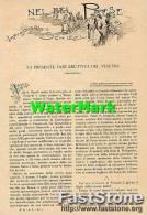 Articolo Rivista '800 LA PRESENTE FASE ERUTTIVA DEL VESUVIO (4 Fotoincisioni) - OTTIMO - Ante 1900