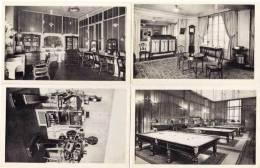 4 CPA - L´ Automobile Club De France - Salon Coiffure - Snooker - Réception - Projections  (52451) - Postcards
