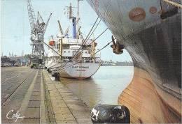 21872 Bordeaux France Quais -Cely N° 5407- Bateau Saint Bernard Dunkerque Grue - Cargos