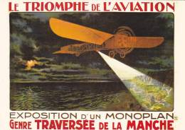 21873 Triomphe Aviation, Exposition Monoplan Genre Traversée Manche -cp 111 Nos Transport Ed Nugeron - ....-1914: Précurseurs