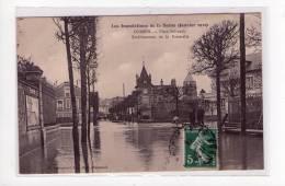 Corbeil, Inondations 1910, Place Salvandy, Etablissement  De La Passerelle , éd. Beauregard     ( Port Offert,  ) - Corbeil Essonnes