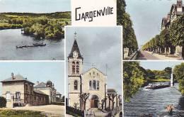 21889 Souvenir Gargenville, 22524 Estel -multivues Multi Vues Peniche Ecole ? Eglise - France