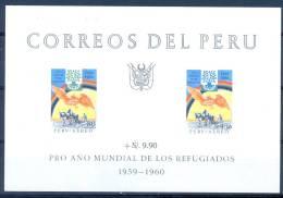 Perù 1960 World Refugee Year MNH** - Lot. A13 - Pérou