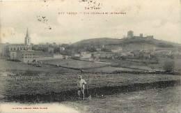 DEPTS DIV- Tarn -ref -F808- Vaour - Vue Generale Et Le Chateau  - Carte Bon Etat - - Vaour