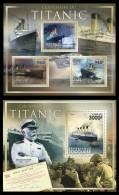 TOGO 2011 MNH** - Centenary Of The Titanic, M/S + S/S - Mi 4245-7 + 4248 - Boten