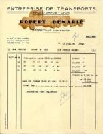 74.HAUTE SAVOIE.BONNEVILLE.ENTREPRISE DE TRANSPORTS. ROBERT DENARIE. - Transports