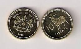 Lesotho 10 Lisente 2010. UNC - Lesotho