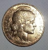 Pièce Napoléon Or - 20 Francs - Marianne Coq - 1907 - L. 20 Francs