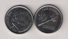 Fiji 10 Cents 2012. UNC - Fiji