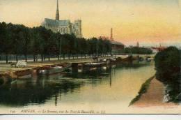 Amiens  LaSomme  Avec Péniches - Amiens