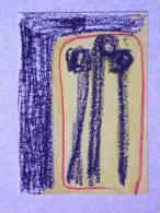 Art Brut Famille   30cm X 21cm Acrylique Et Craie Grasse Sur Papier - Acrilici