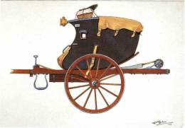 CPM 68 (Haut-Rhin) Riquewihr, Musée D'histoire Des P.T.T. D'Alsace - Malle Poste 1805, Courrier Sous La Bâche, Par Bruck - Postal Services