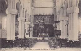 Interieur De L'Eglise De Rocabey, St-Malo (Ille Et Vilaine), France, 1900-1910s - Saint Malo