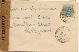 CINEMA & MUSIC - DOROTHY LAMOUR - BRAZIL CENSORED 1943 COVER   To PARAMOUNT STUDIOS - HOLLYWOOD - Cinema
