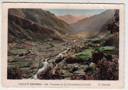Andorre - Valls Andorra - Panorama De La Vall D'Andorra La Vella - Editeur: Claverol N° 546 (ETAT) - Andorra