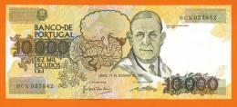 PORTUGAL 10000 Escudos Ch.1 14/12/1989 P#185b AUNC+ - Portugal