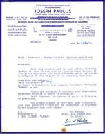 BELGIQUE - DISON - FABRIQUE BELGE DE LAMES POUR TONDEUSES ET COUTEAUX DE MACHINES - ETS JOSEPH PAULUS - LETTRE - 1964 - Belgique
