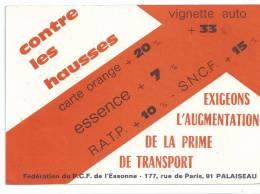 Carte éditée Par Le Parti Communiste Français De L' Esonne à L'attention Des Présidents D'entreprise Voir Scan Recto Ver - Unclassified