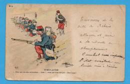 Illustrateur    Guillaume   Carte Militaire Humoristique    Simulacre - Guillaume