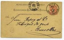 Correspondenz Karte - WIEN  WESTBAHNHOF  - 8/05/1890 - AUSTRIA  /    AUTRICHE Entier Postal Pour La Belgique - Brieven En Documenten