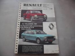 Bulletin D\´information Cadres Maitrise Et Techniciens   26 Juin 1980   R 20 R 30  R 5 Turbo N° 286 - Cars