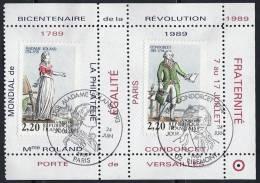 Personnages De La Révolution Oblitérés Sur Portes-timbres LUXE - 2 Scans - Curiosidades: 1980-89 Usados
