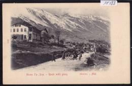 Caucase : Route Militaire Géorgienne à Mlet ; Char Pièce Caisson Cosaques - Vers 1904 (11´188) - Russie