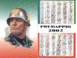 Calendario Italiano. Mussolini Con Casco. 2002. - Calendarios