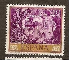 """Spain Edifil # 1711 (o) Pintura José Mª Sert - """"Evocacion De Toledo"""" - 1931-Hoy: 2ª República - ... Juan Carlos I"""