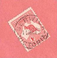 AUS SC #2d Used - 1913 Kangaroo And Map, W/SON, CV $2.25 - Used Stamps