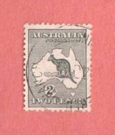 AUS SC #3 Used - 1913 Kangaroo And Map, CV $10.00 - Used Stamps
