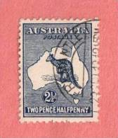 """AUS SC #4 Used - 1913 Kangaroo And Map, W/TC """"(FREMANTLE / 23SEP13"""") W/nibbed Perf @ LL, CV $22.50 - Used Stamps"""