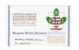 "Carte De Visite - Brugsche Meubel Industrie ""BMI"" BRUGGE - BRUGES  - Meubelen - Meubles   (k) - Cartes De Visite"