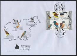 FDC Slovenia 1995 -  Endangered Native Birds (Michel 113-116) Mint FDC 10/95 - Slovenië