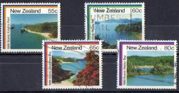 New Zealand 1986 Coastal Scenery Set Of 4 Used - New Zealand