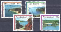 New Zealand 1986 Coastal Scenery Set Of 4 Used - - New Zealand
