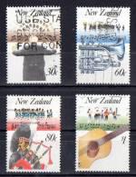 New Zealand 1986 Music Set Of 4 Used - New Zealand