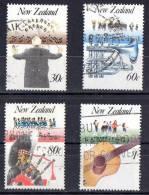 New Zealand 1986 Music Set Of 4 Used - - New Zealand