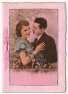 Lot De 3 Cartes  Fantaisie  -  Couple D' Amoureux - Ajoutis - , Rubans , Paillettes  - Réf : P 164 - DDCF 15 - DDCF 24 - Couples