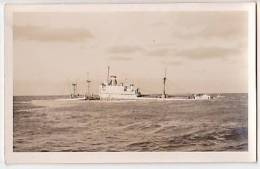 Italian Liberty-ship FIDES PHOTO OF SINKING SUNK Paquebot Ship Steamer Boat Vintage Original Postcard Cpa Ak (W3_1338) - Cargos