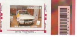 Doubs  -  Sochaux   - Peugeot  504 Papamobile  1980 - Gepersonaliseerde Postzegels (MonTimbraMoi)