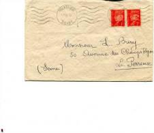SEINE De SAINT DENIS SUR SEINE LSC Du 25/01/1944 Avec Pétain - Marcophilie (Lettres)
