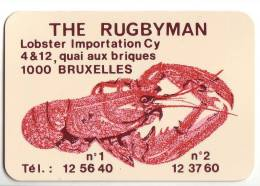 """CALENDRIER 1973 - """"THE RUGBYMAN"""" - BRUXELLES - Calendriers"""