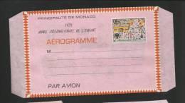 MONACO - AEROGRAMME NEUF N° 503 - DESSIN D ENFANT - VOIR SCAN - Mónaco