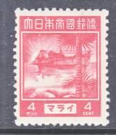 JAPANESE  OCCUP.  MALAYA N 31  * - Ocupacion Japonesa