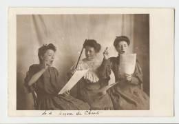 Carte Photo - La Leçon De Chant - - Vrouwen